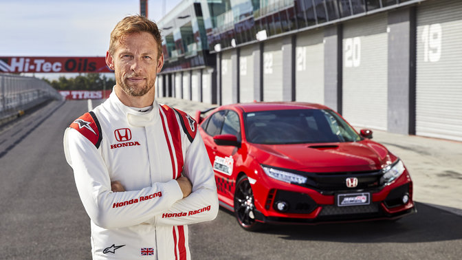 La Honda Civic Type R con Jenson Button