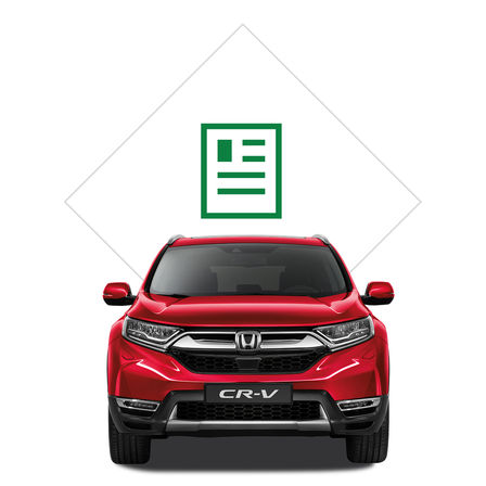 Brochure illustrativa Honda CR-V.