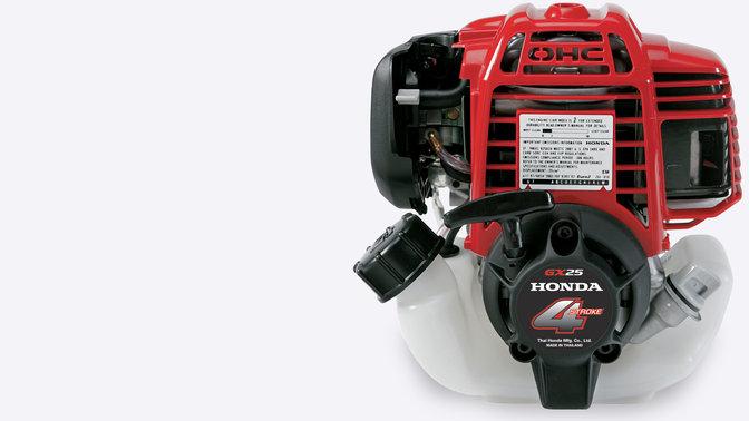 Tagliasiepi Honda, primo piano del motore a 4 tempi.