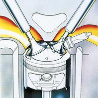Illustrazione del motore BF2.3, in vista ravvicinata.