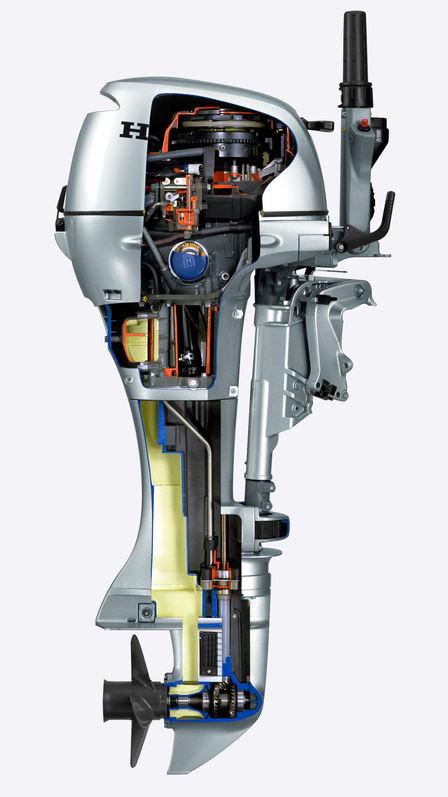 Dettaglio dell'interno del motore.