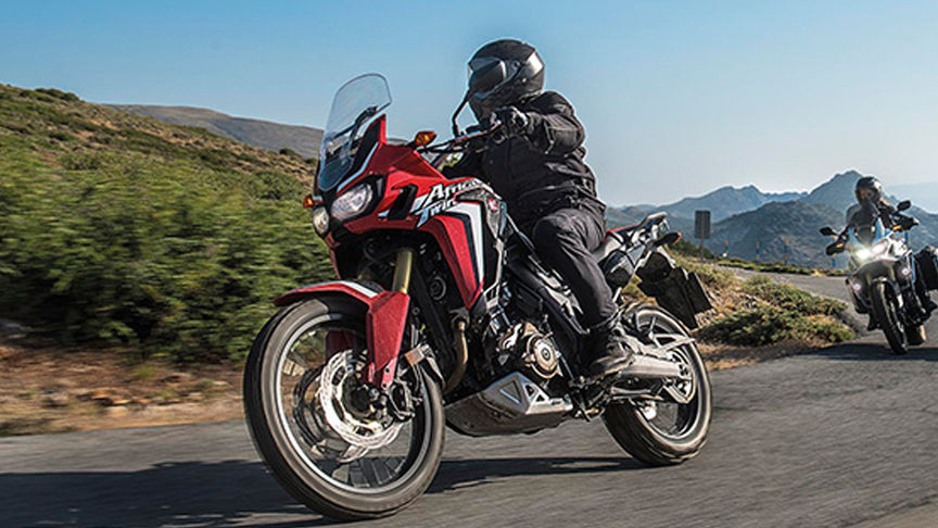Primo piano dell'Africa Twin