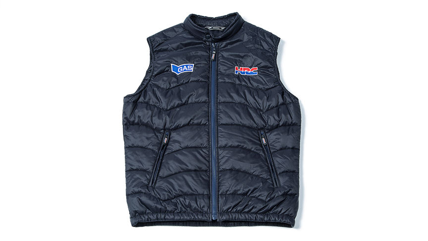 Gilet blu con il logo Honda Racing Corporation