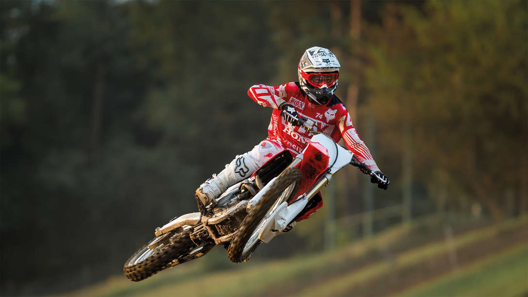 crf250r mid air with rider
