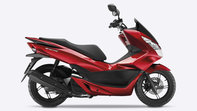 Honda-PCX125-Ripresa in studio-Pearl Siena Red-Vista laterale