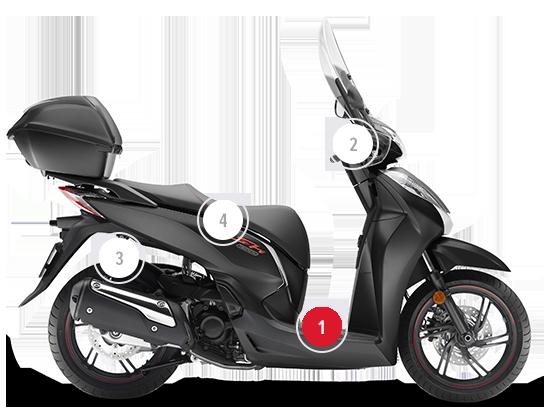 grande sconto selezione mondiale di modelli di grande varietà Honda SH300I   Scooter 300 cc   Honda IT