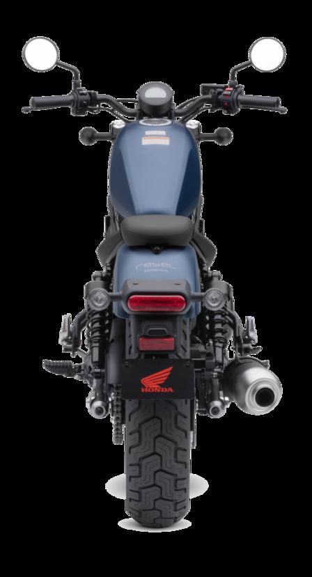 Vista posteriore della Honda CMX500 Rebel.