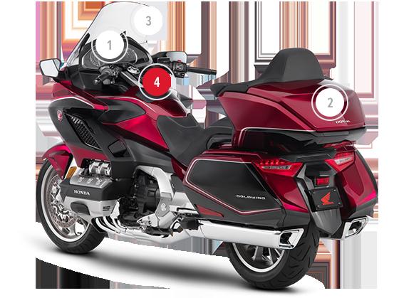 panoramica della honda gold wing touring moto honda. Black Bedroom Furniture Sets. Home Design Ideas